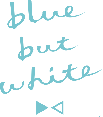 blue but white